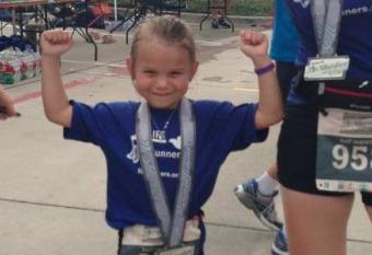 6 year old half marathon runner
