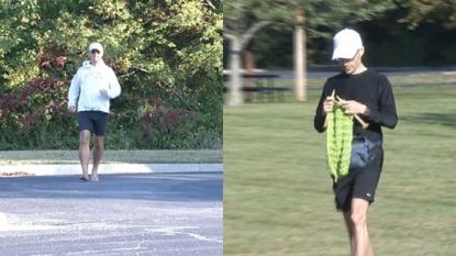 Record Break Marathon Running while knitting scarf