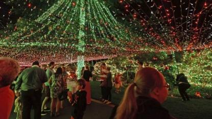 World Record: Lighting half million bulbs on house