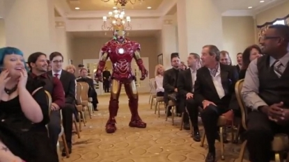 Amazing wedding, Ironman and Batman came to ruin it