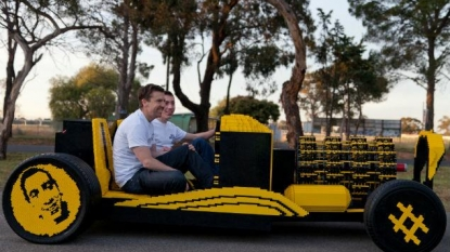 Car entirely made up of Lego, run with speed 12mph