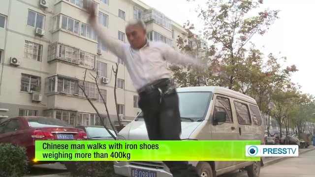 Suffering from back pain, Walk with 400 KG shoes1