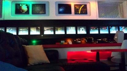 Watch the biggest Star Trek fan who turned basement into Starship Enterprise