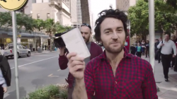 And this man bought the world's first iPhone 6 and dropped it into beer