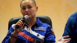 Russia's first female cosmonaut became angry over the reporters for asking questions about her hairs repeatedly