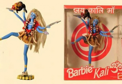 Two Argentinian artist has created a Barbie which resembles as the Hindi Goddess 'Kali'