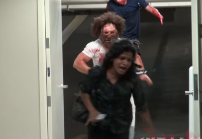 Horrifying prank in this Halloween with chainsaw and murder