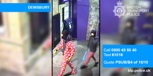 Police are on hunt for the robbers wearing onesie and red leggings