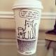 Man draws amazing designs on the Starbucks coffee mugs