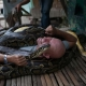People are enjoying the massage by huge Pythons in the Philippines