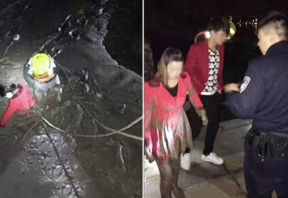 Girlfriend and ex-girlfriend jumped in river to check whom he'll rescue