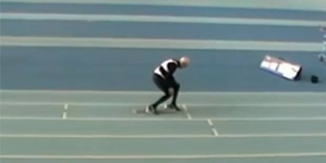 Man of 95 broke the record of sprint 200m race
