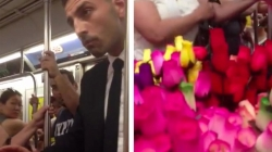 Heart-warming footage when a man bought all flowers from vendor and distributed to random people