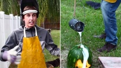 Man explains what would happen when you pour molten aluminium into watermelon