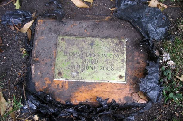Man found stranger's ashes buried inside his garden