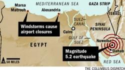 Sandstorm, 5.2 magnitude quake hits Eqypt