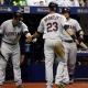 Baseball roundup: Indians' Carlos Carrasco just misses no-hitter