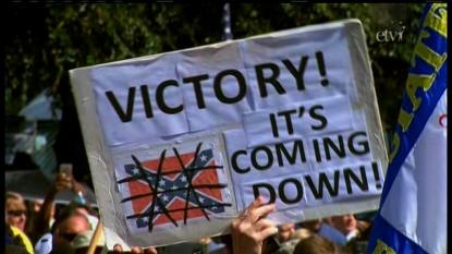 Confederate flag lowered in South Carolina
