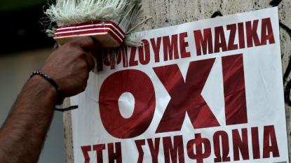 Greece debt crisis: PM addresses referendum 'No' rally