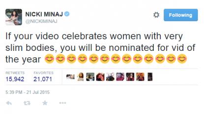 Nicki Minaj | Nicki Minaj Not Happy With Mtv Vmas Best Video Snub