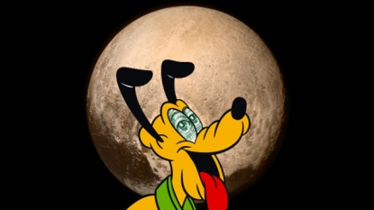Pluto's mountainous surface could be biologically active, say