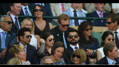 Tendulkar, Kohli and Anushka watch Wimbledon semi-finals