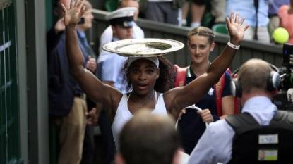 Serena beats Muguruza to lift her sixth Wimbledon singles title