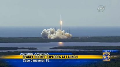 Space station rocket explodes
