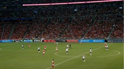 Arsenal train ahead of Premier League Asia Trophy final against