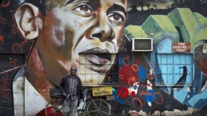US President Obama hits the dance floor during Kenya trip