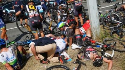 Watch the Stage 3 crash that marred Monday's Tour de France
