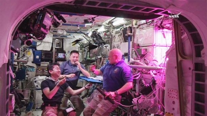 Astronauts eat space-grown lettuce for first time