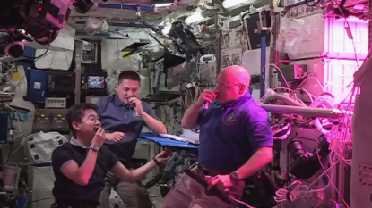 Astronauts eat first food grown in space