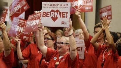 Bernie Sanders draws large crowd to Portland arena