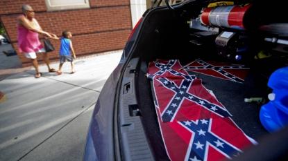 Confederate flags found at US black church in Atlanta