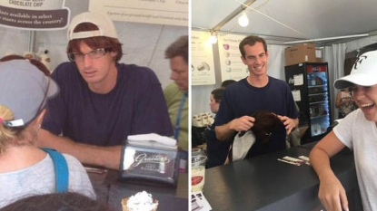 Andy Murray goes undercover to serve up ice cream to tennis fans