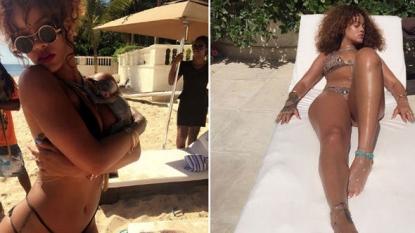 Rihanna and Lewis Hamilton fuel romance rumors in Barbados