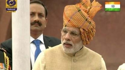 India's Modi touts government achievements in annual speech