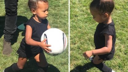 Kim Kardashian Shares North West Football Pics, Declares: 'I'm A Soccer Mom'
