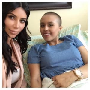Kim Kardashian: Star and Mason Disick visit cancer-stricken fan