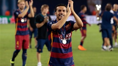 Pedro denies reports he wants to leave Barcelona