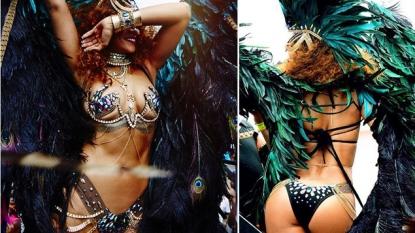 Rihanna flaunts skin at Barbados Carnival Parade
