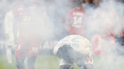 Marseille rally to earn draw with Lyon in temporarily suspended match