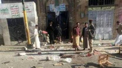 Mosque bombing in Yemen capital kills at least 25