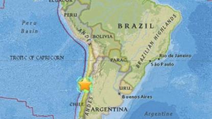 Aerial footage shows Chile quake damage
