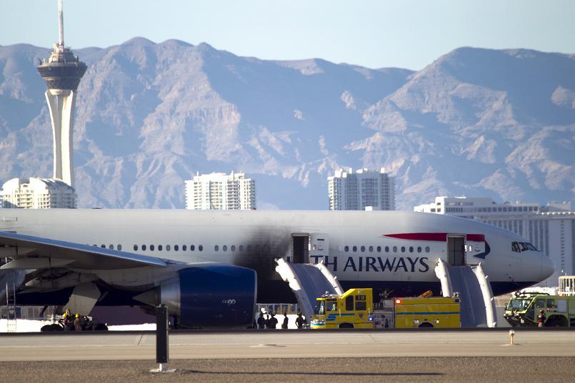 British Airways Plane Catches Fire In Las Vegas