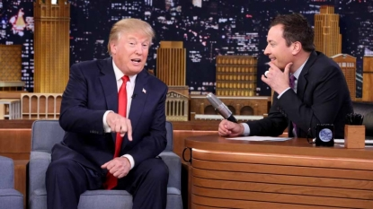 Donald Trump visits Jimmy Fallon's 'Tonight Show'