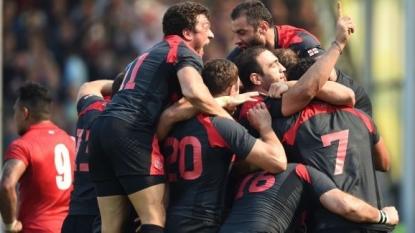 Georgia hold firm to edge past Tonga