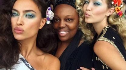 Diane Von Furstenberg highlights supermodels at joyous show