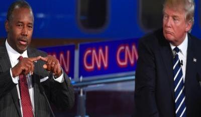 Jindal, Trump trade barbs during Reagan Library debates